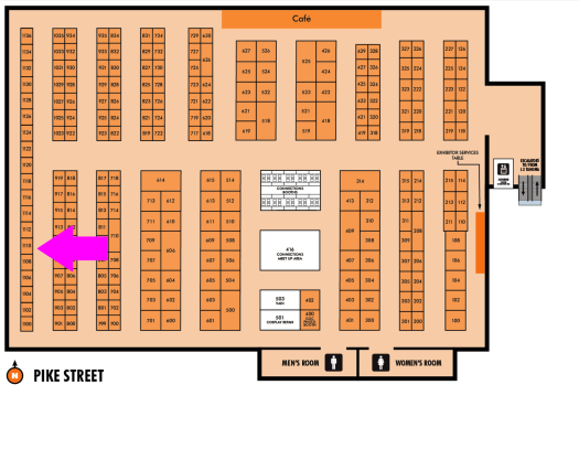 GeekGirlCon 2018 Floor Map