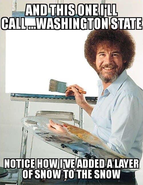 Bob Ross Snow in Washington